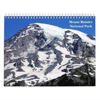 Calendário do parque nacional de Monte Rainier