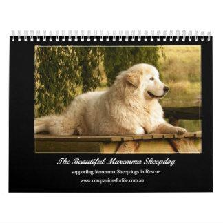 Calendário do Sheepdog de Maremma
