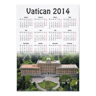 Calendário do vaticano 2014 convite 11.30 x 15.87cm
