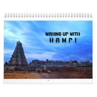 Calendário do viagem de Hampi