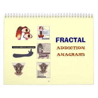 Calendário dos anagramas 2008 do vício do Fractal