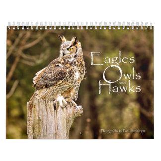 Calendário dos animais selvagens de Eagles, das