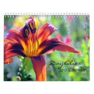Calendário dos hemerocallis 2012