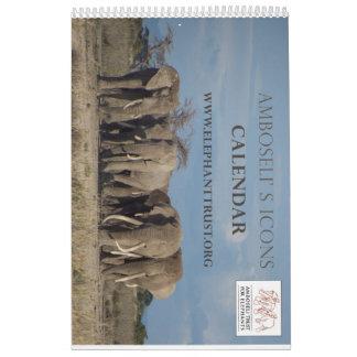 Calendário dos ícones de Amboseli