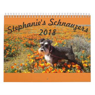 Calendário dos Schnauzers 2018 de Stephanies