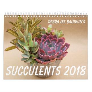 Calendário dos Succulents 2018 por Debra Lee