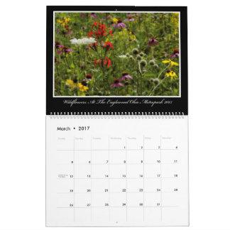 Calendário dos Wildflowers 2017 por Thomas