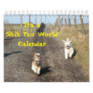 Calendário É um mundo de Shih Tzu