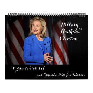 Calendário Estatuto da mulher mundial de Hillary Rodham