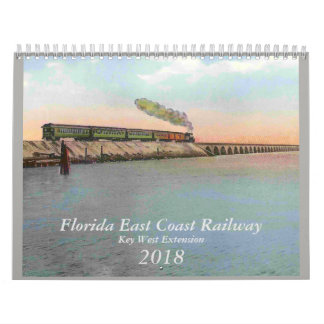 Calendário Estrada de ferro de Key West do vintage de 2018