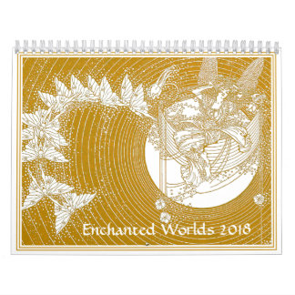 Calendário feericamente Enchanted 2018 dos mundos
