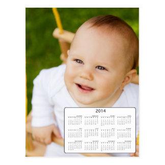 Calendário feito sob encomenda da foto 2014 do cartão postal