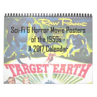 Calendário Ficção científica & posters de filme de terror do