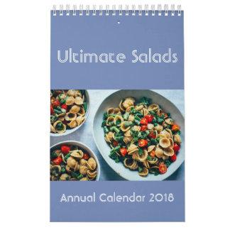 Calendário final 2018 das saladas