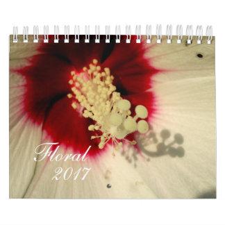 Calendário floral da foto da flor