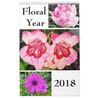 Calendário floral do ano 2018