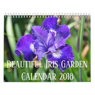 Calendário Flores coloridas da íris