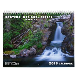 Calendário Floresta nacional do Kootenai de Montana -