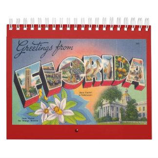 Calendário FLORIDA, um ano do vintage