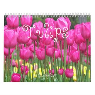 Calendário Foto floral das tulipas