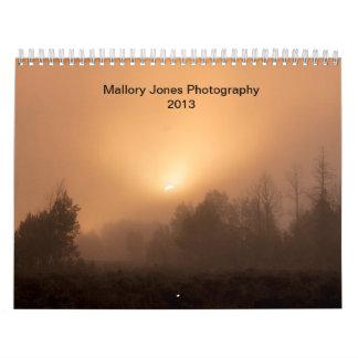 Calendário Fotografia 2013 de Mallory Jones