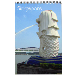 Calendário fotografia de singapore