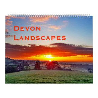 Calendário Fotografia do original das paisagens de Devon
