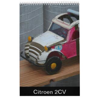 Calendário francês 2018 do carro do CV de Citroen