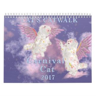 Calendário Gato 2017 do carnaval