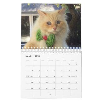 Calendário Gato Siberian da floresta