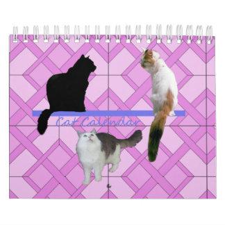 Calendário Calendário - gatos