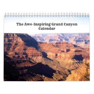 Calendário Grand Canyon do Incrédulo-Inspriring