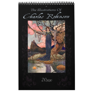 Calendário Ilustrações do conto de fadas por Charles Robinson