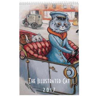 Calendário ilustrado de 2017 gatos - Louis Wain