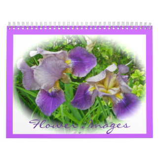 Calendário - imagens da flor