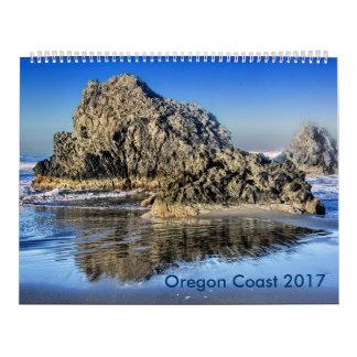 Calendário Imagens litorais de Oregon