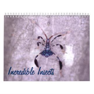 Calendário incrível dos insetos