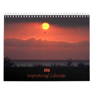 Calendário inspirado da natureza 2016