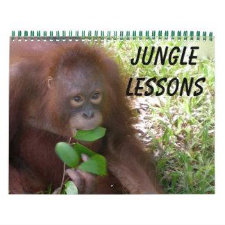 Calendário Lições da selva