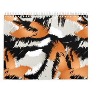 Calendário Listras do tigre