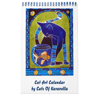 Calendário Calendário lunático 2018 da arte do gato para