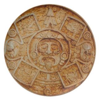 Calendário maia do deus pratos