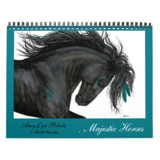 Calendário majestoso dos cavalos por BiHrLe