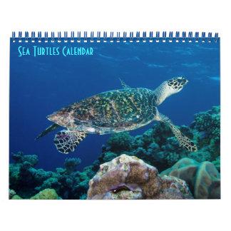 Calendário Mar coral do grande recife de coral da tartaruga