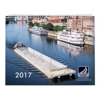 Calendário marinho de Transporation Co 2017 da