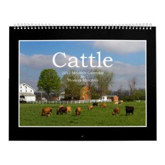 Calendário mensal do gado 2017 por Thomas Minutolo