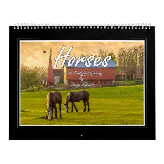 Calendário mensal dos cavalos 2018 por Tom