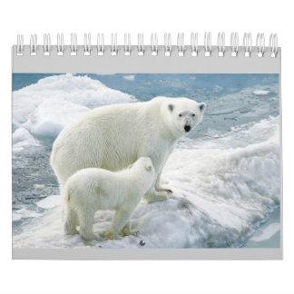 Calendário mensal (urso polar)