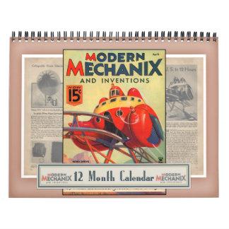 Calendário moderno de Mechanix & de invenções