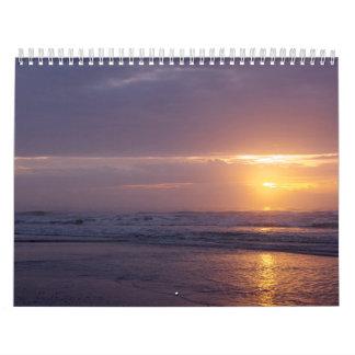 Calendário Na praia